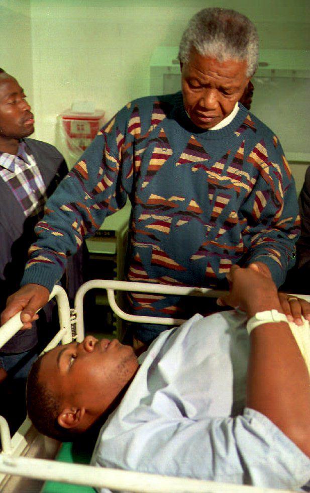 Mandela loved visiting sick kids.