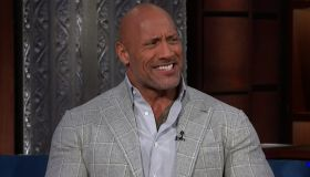 Dwayne Johnson during an appearance on CBS' 'The Late Show with Stephen Colbert.'