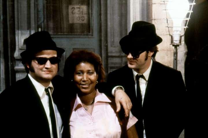 The Queen with John Belushi & Dan Akroyd