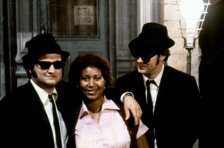 The Queen with John Belushi & Dan Akroyd