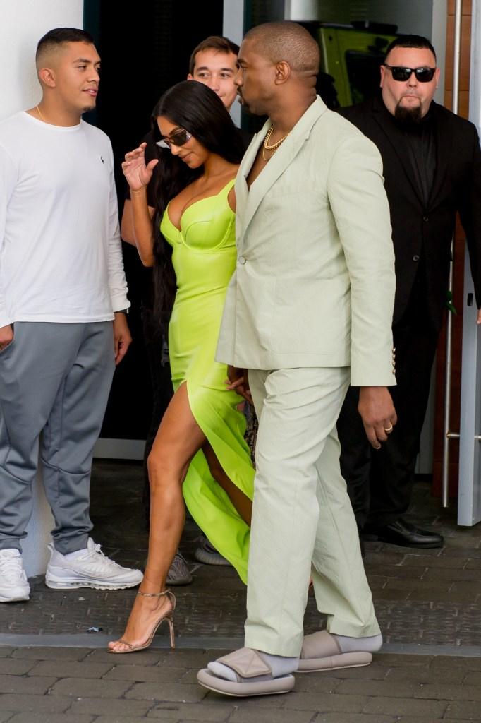 Kanye West & Kim Kardashian at 2 Chainz's wedding