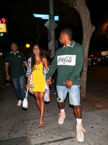 Karrueche Tran & Victor Cruz Outside Delilah Nightclub in L.A.