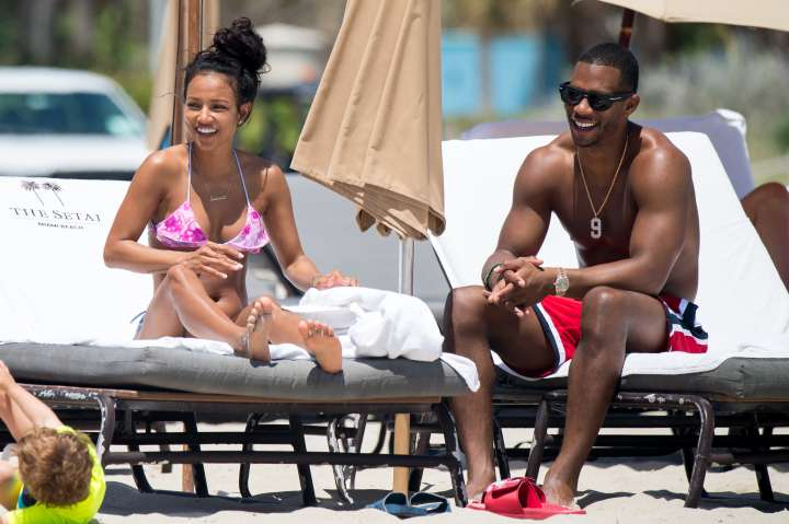Karrueche & Victor enjoy a day at Miami Beach