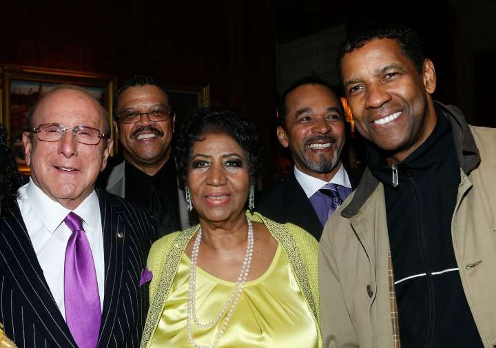 The Queen with Denzel Washington and Clive Davis