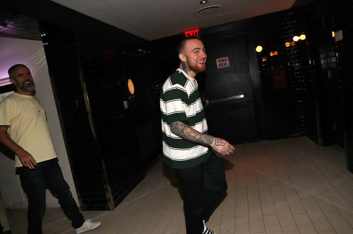 Mac is all smiles at his album listening party in July.