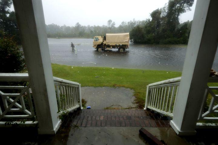 Hurricane Florence slams into the coast of the Carolinas