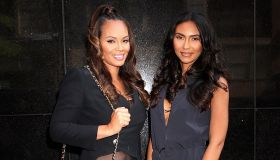 Reality TV star Evelyn Lozada and daughter Shaniece Hairston spotted leaving 'Good Day New York'