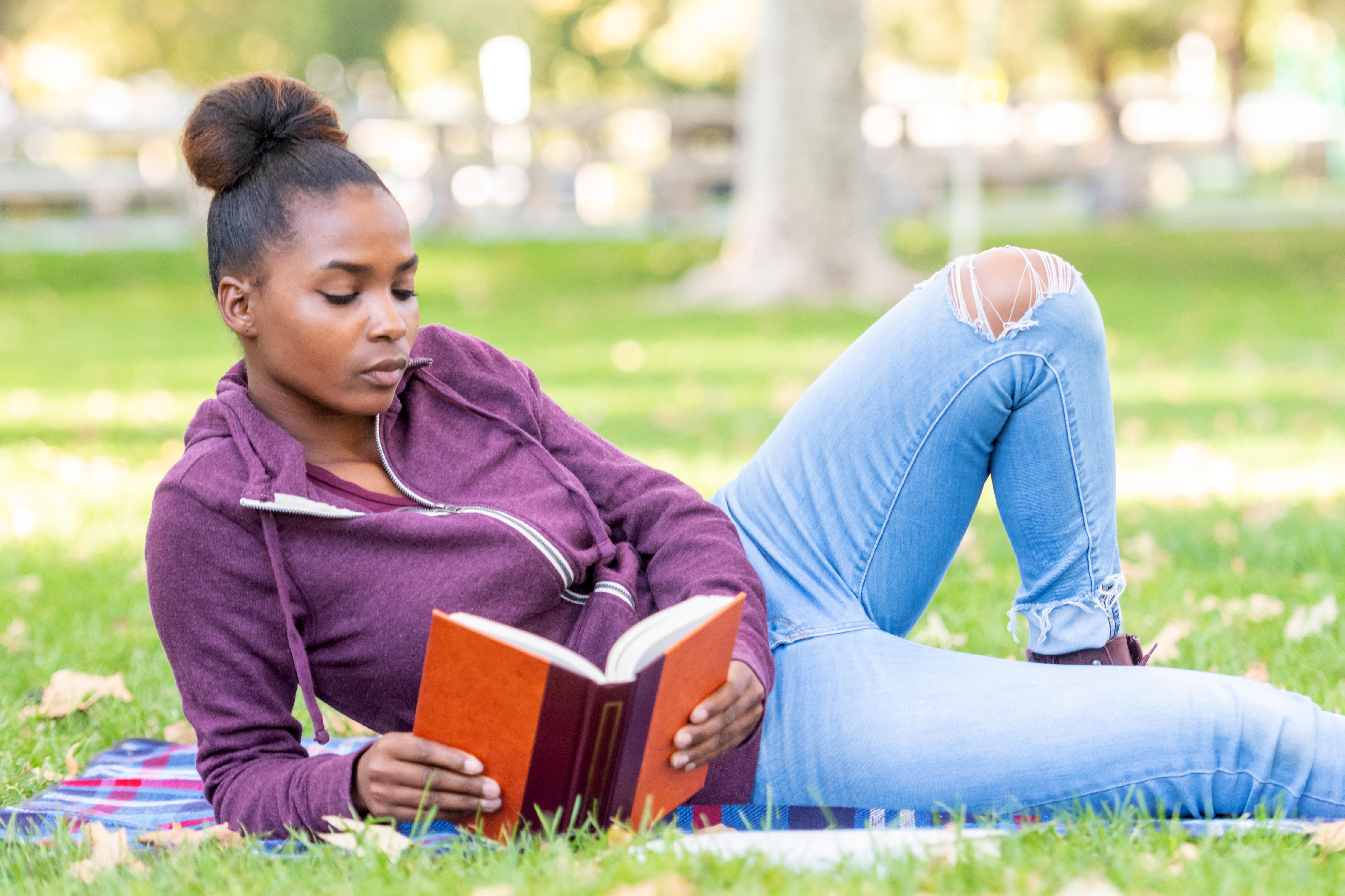 Serious beautiful young black woman