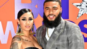Queen Naija and Clarence White at 2018 BET Awards