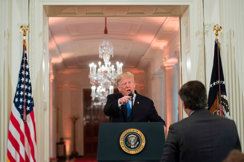trump can't handle the press racists election