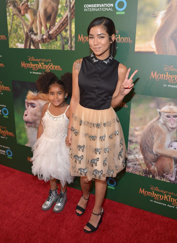 Nami and Jhene at the world premiere of Disney's 'Monkey Kingdom'