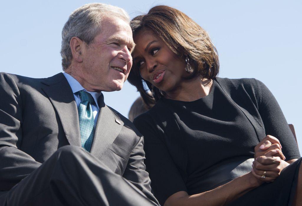 George Bush, Michelle Obama