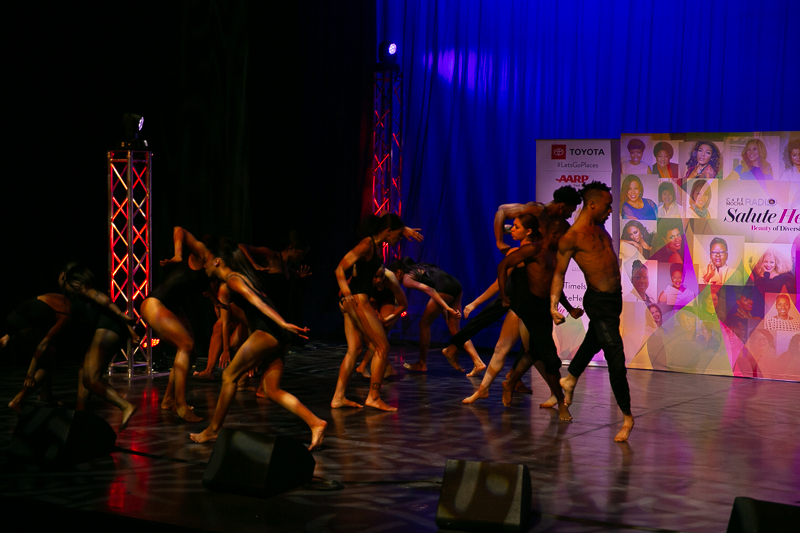 The Anthony Burrell Center for Dance special tribute performance at Cafe Mocha Radio Salute Her Awards in Atlanta on November 16, 2018