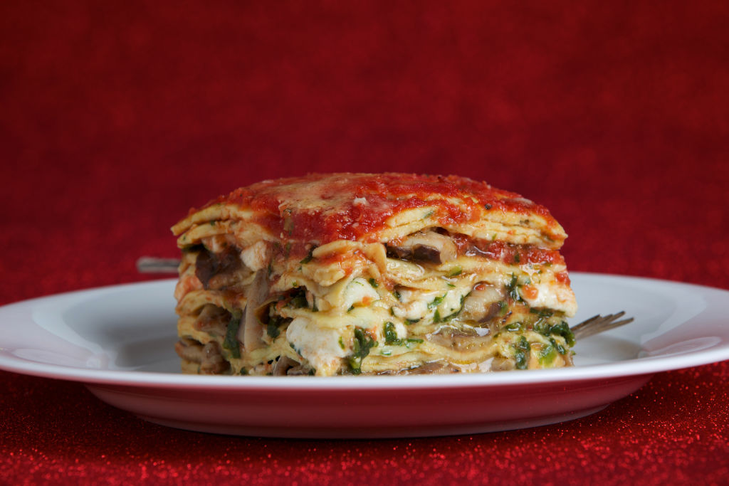 Crepe Lasagna With Mushrooms and Spinach
