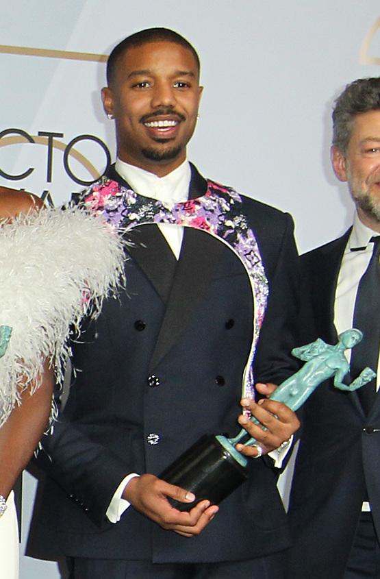 Michael B. Jordan at the SAG Awards