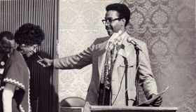 Shirley Chisholm and Donald Lee at NAACP convention in 1971