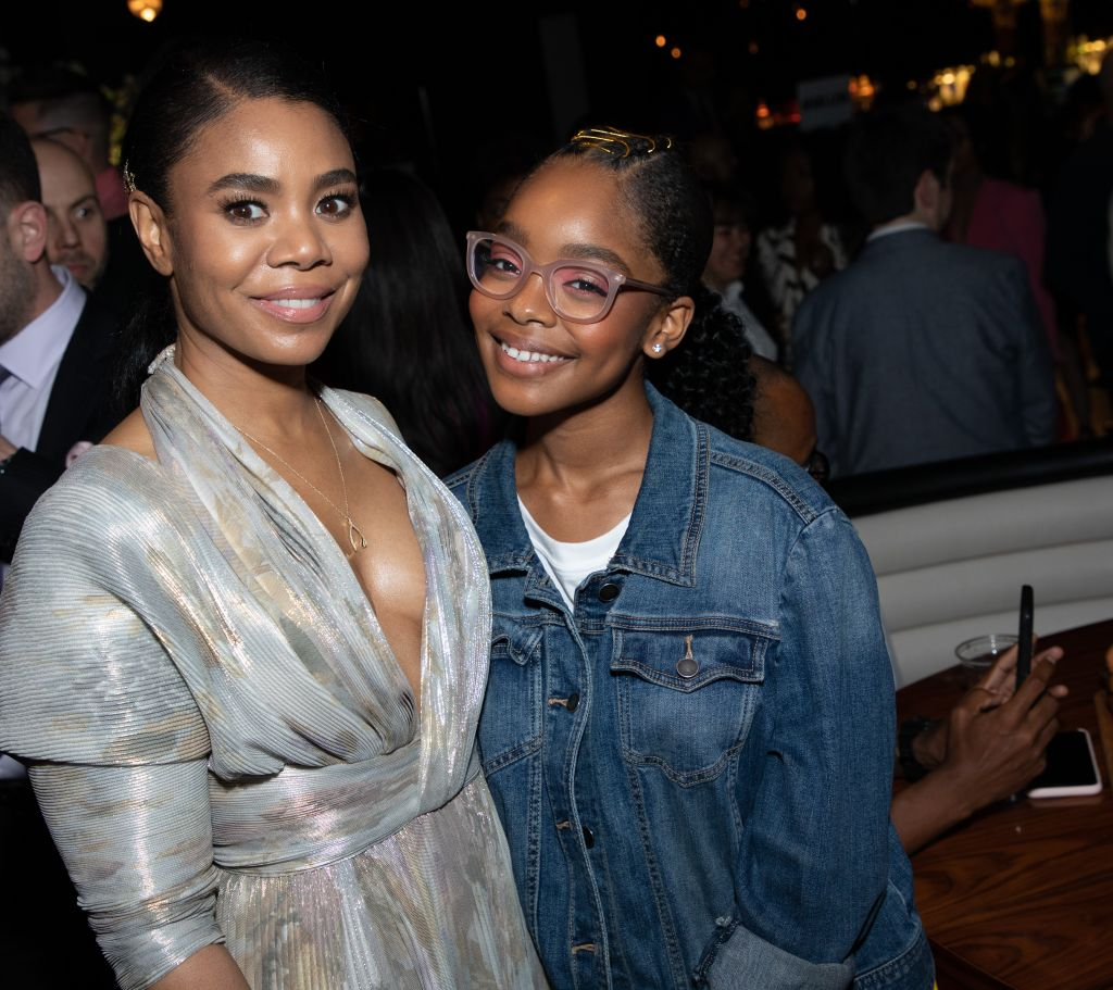 Marsai Martin and Regina Hall Little Premiere after party