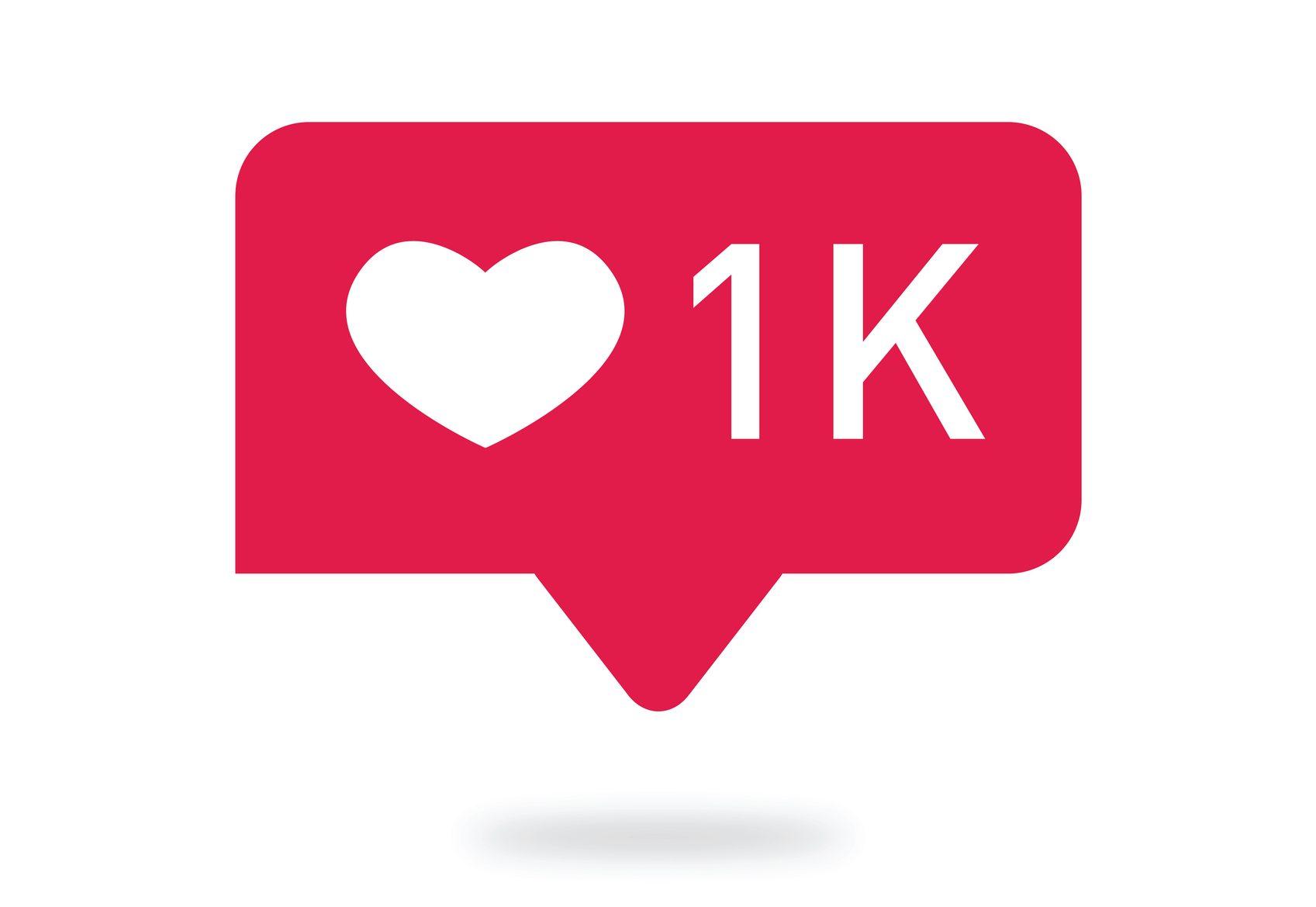 Counter Notification Icon. Follower . Icon like, people. like, heart icon. Social media 1 like. Vector illustration.