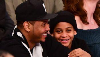 Celebrities Attend Miami Heat v New York Knicks