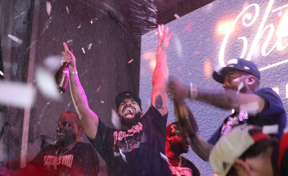 Toronto fans watch, worry and celebrate at Jurassic park as the Toronto Raptors beat the Golden State Warriors in game six to win the NBA Championship at Oracle Arena in Oakland outside
