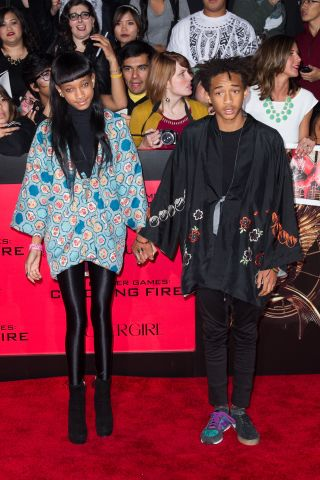 Jaden Smith shawl and Willow Smith