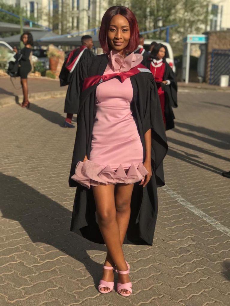 African woman at graduation
