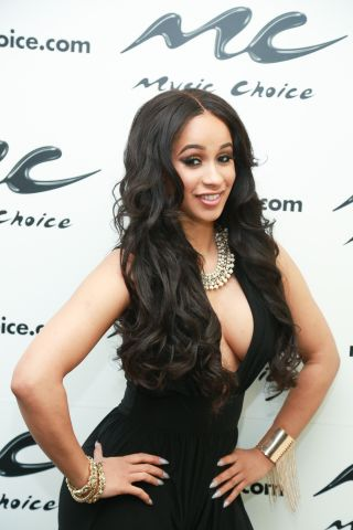 Rapper Cardi B Visits Music Choice