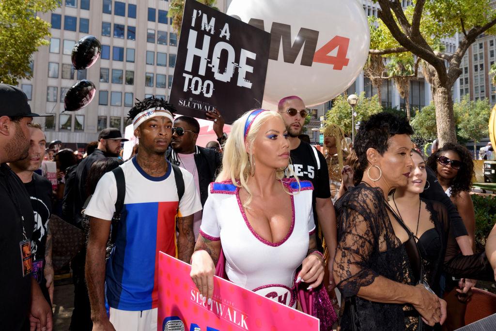 Amber Rose Attends SlutWalk in Los Angeles