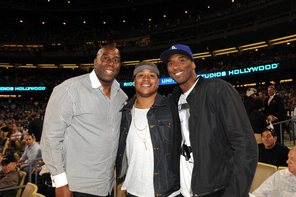 Celebrities At Los Angeles Dodgers Game - July 31, 2013