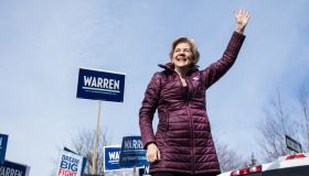 Presidential Candidate Elizabeth Warren Casts Her Vote In Massachuestts Primary On Super Tuesday