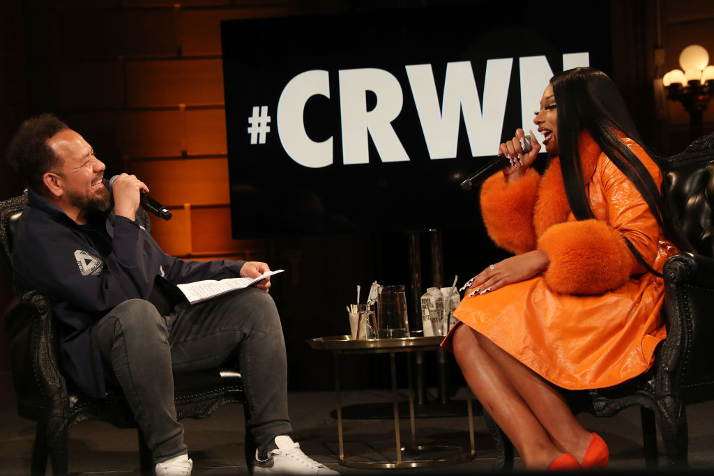 Megan Thee Stallion joins Elliott Wilson for an exclusive CRWN interview in NYC