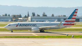 American Airlines Boeing 737-800 seen at Norman Y. Mineta...