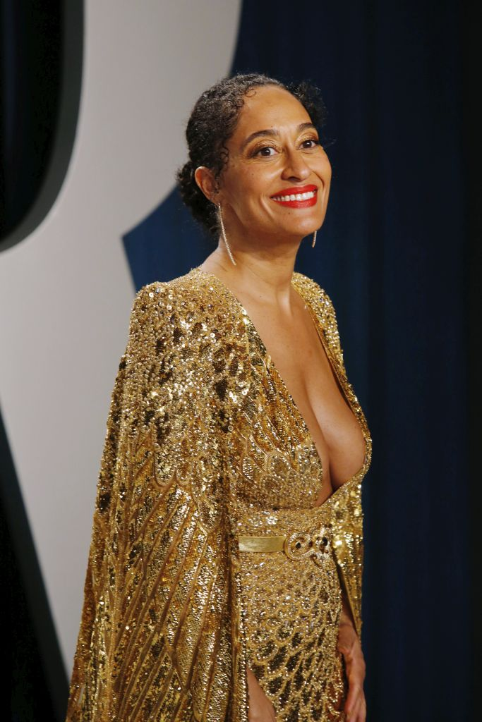 Tracee Ellis Ross attends the 2020 Vanity Fair Oscar Party Celebrating the 92nd Annual Academy Award...