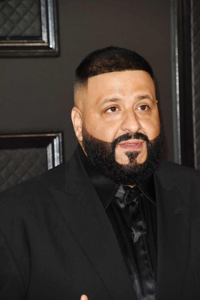 DJ Khaled arrives at the 62nd Annual GRAMMY Awards at Staples Center on January 26, 2020 in Los Angeles, California