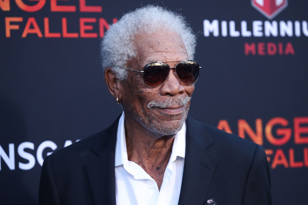 Actor Morgan Freeman arrives at the Los Angeles Premiere Of Lionsgate's 'Angel Has Fallen' held at the Regency Village Theatre on August 20, 2019 in Westwood, Los Angeles, California, United States.