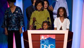 USA - 2008 Presidential Election - Michelle Obama at Walk-Through for DNC