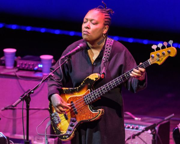 Meshell Ndegeocello performs at The Kennedy Center in Washington, D.C.