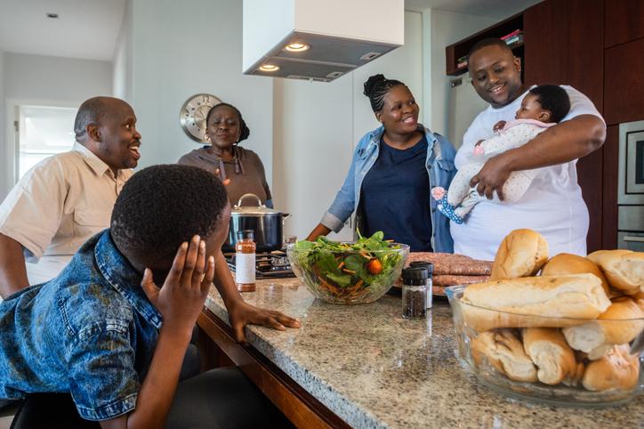 Whole family kitchen fun
