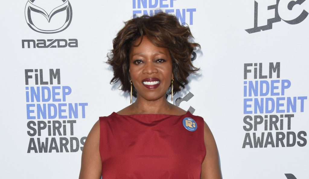 Alfre Woodard arrives at the 2020 Film Independent Spirit Awards, held on the beach in Santa Monica,...