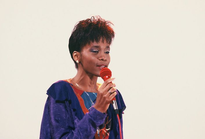 Houston, Whitney - Musician, Singer, Pop music, USA - performing in Cologne, Germany