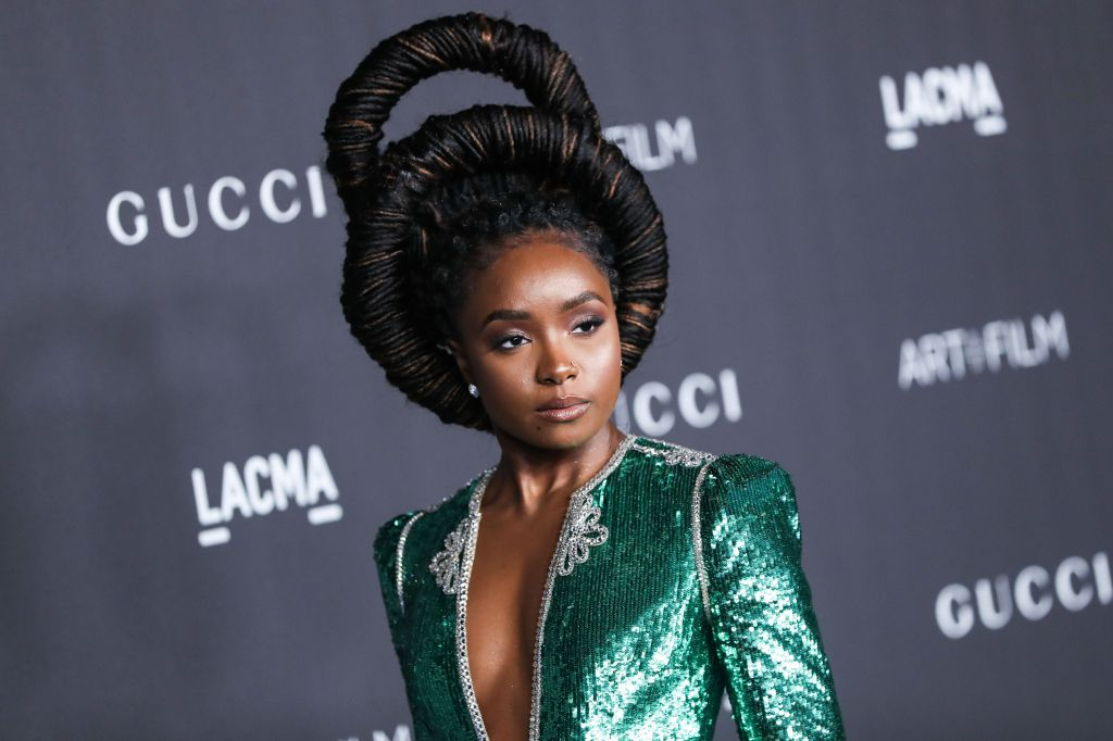 Actress KiKi Layne arrives at the 2019 LACMA Art + Film Gala held at the Los Angeles County Museum of Art on November 2, 2019 in Los Angeles, California, United States.