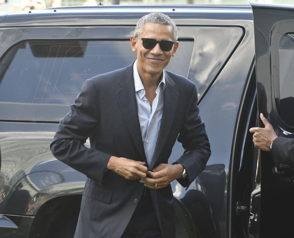 Barack Obama arrives at the 'Tuttofood 2017' show