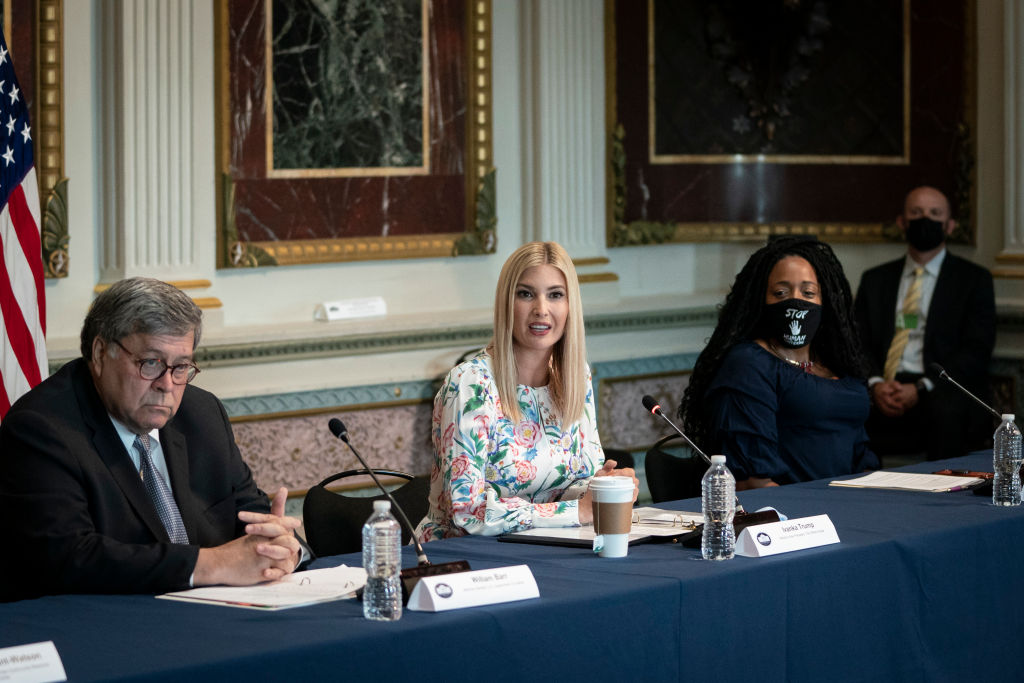 Ivanka Trump And Attorney General Barr Host Roundtable Highlighting Grants To Combat Human Trafficking