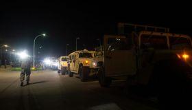 US military convoys on their way to Poland