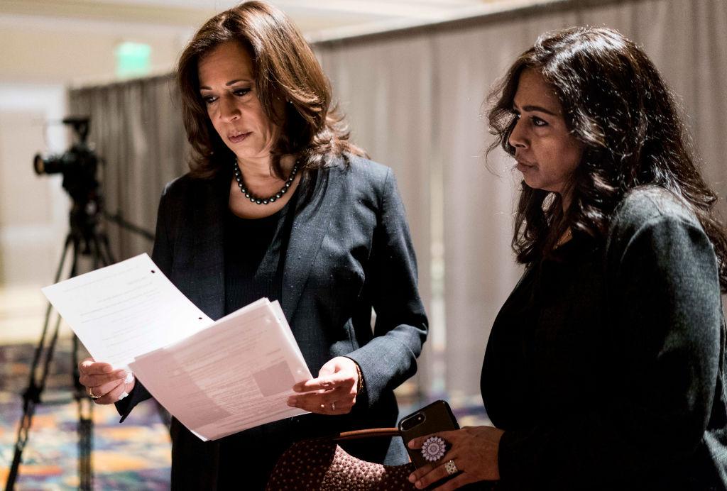 Democratic Candidate for President Senator Kamala Harris - sister and advisor Maya Lakshmi Harris