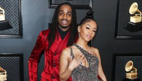 Quavo and girlfriend Saweetie arrive at the 62nd Annual GRAMMY Awards held at Staples Center on January 26, 2020 in Los Angeles, California, United States.