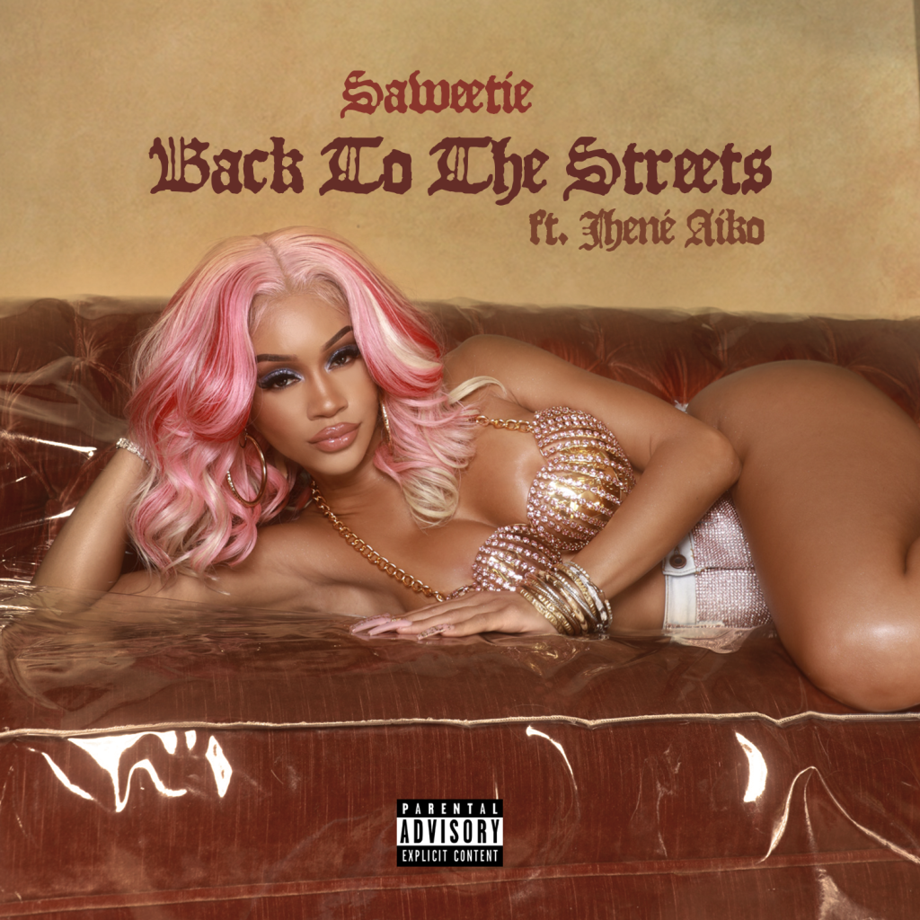 """Saweetie x Jhene Aiko """"Back To The Streets"""" Artwork"""