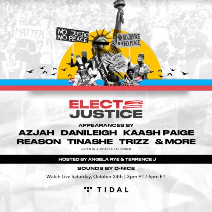 Tidal x Elect Justice livestream