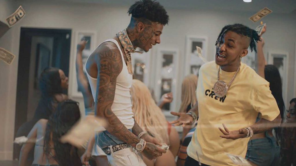 "DDG and Blueface ""Moonwalking In Calabasas"" screengrab"