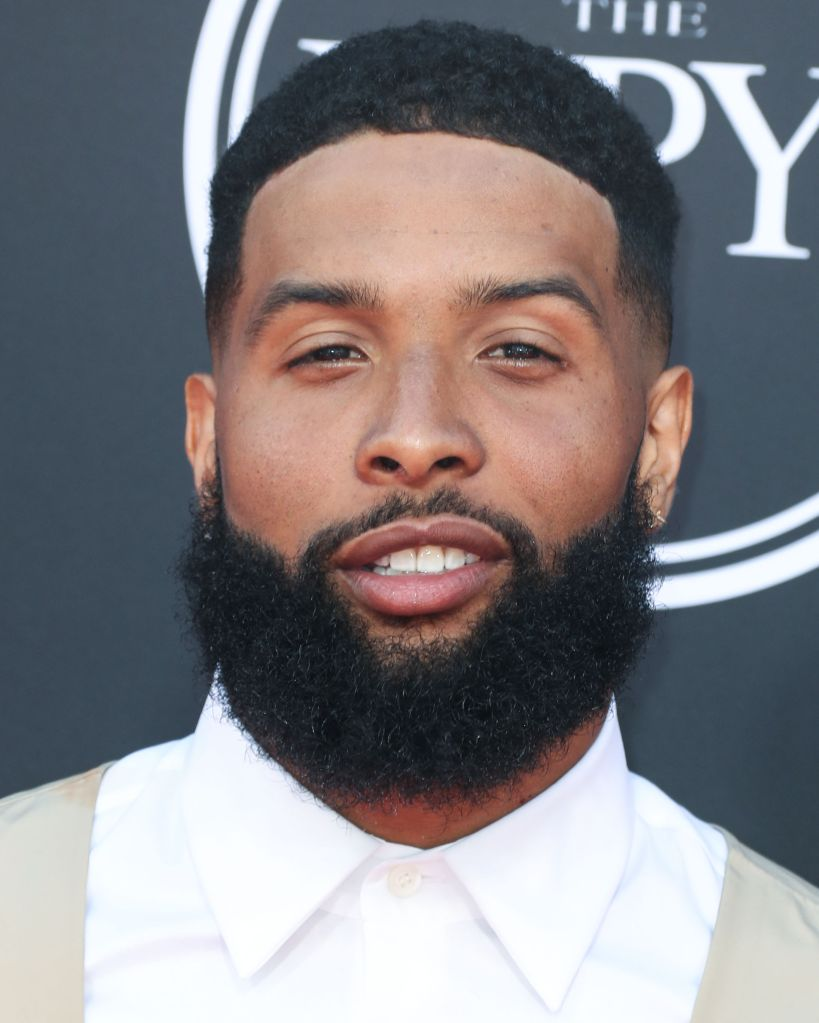 Football wide receiver Odell Beckham Jr. wearing Prada arrives at the 2019 ESPY Awards held at Microsoft Theater L.A. Live on July 10, 2019 in Los Angeles, California, United States. (Photo by Xavier Collin/Image Press Agency)